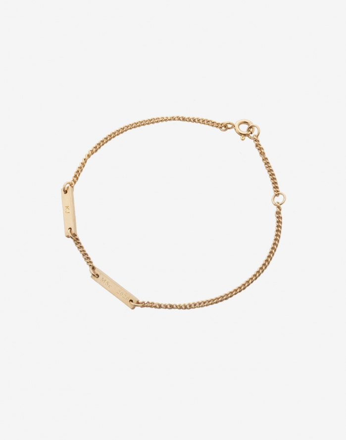 aeecb8cb0 Isabel Graduation Bracelet, Yellow Gold Vermeil