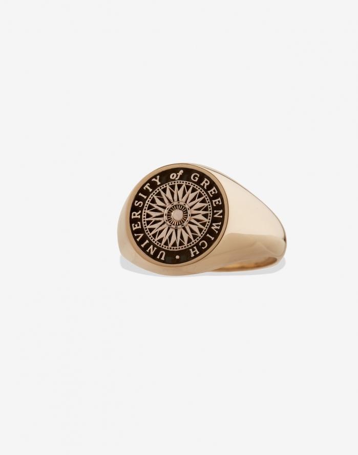 e23d27df411 Signet Medium, Gold | University of Greenwich Graduation Ring