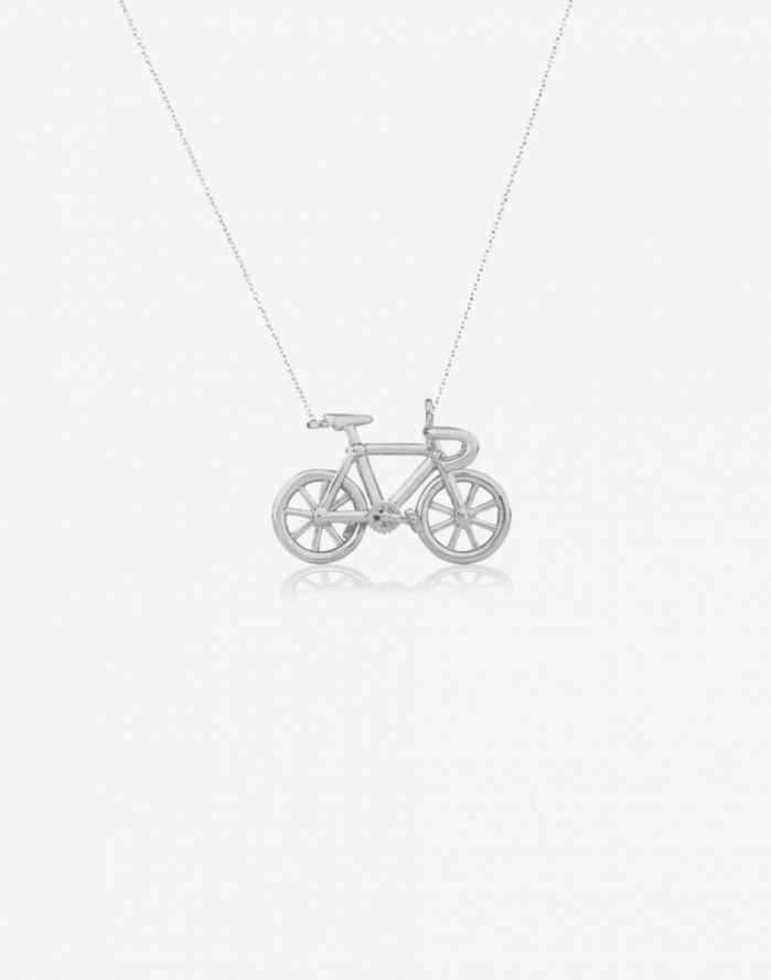 Bicycle pendant sterling silver aloadofball Gallery