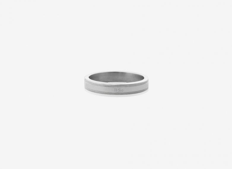 Classic Enamel Band, Sterling Silver