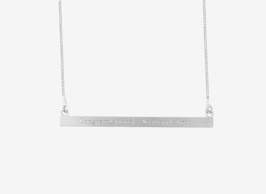 Classic Bar Necklace - Sterling Silver