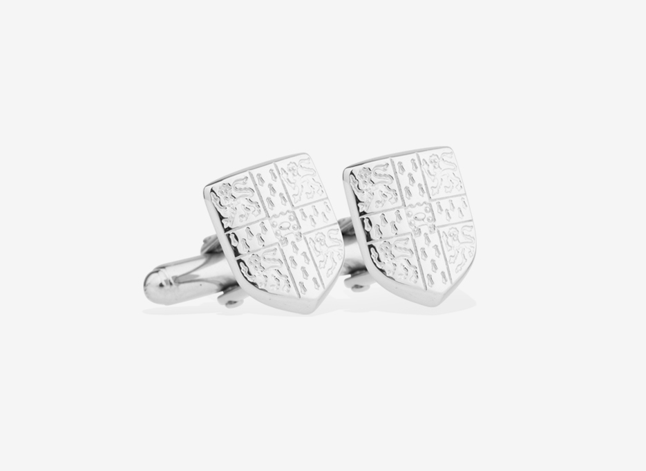 Caro Shield Cufflinks | Silver