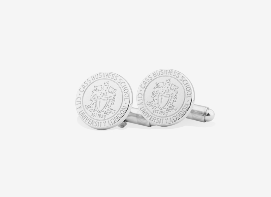 CASS Caro Shield Cufflinks | Sterling Silver
