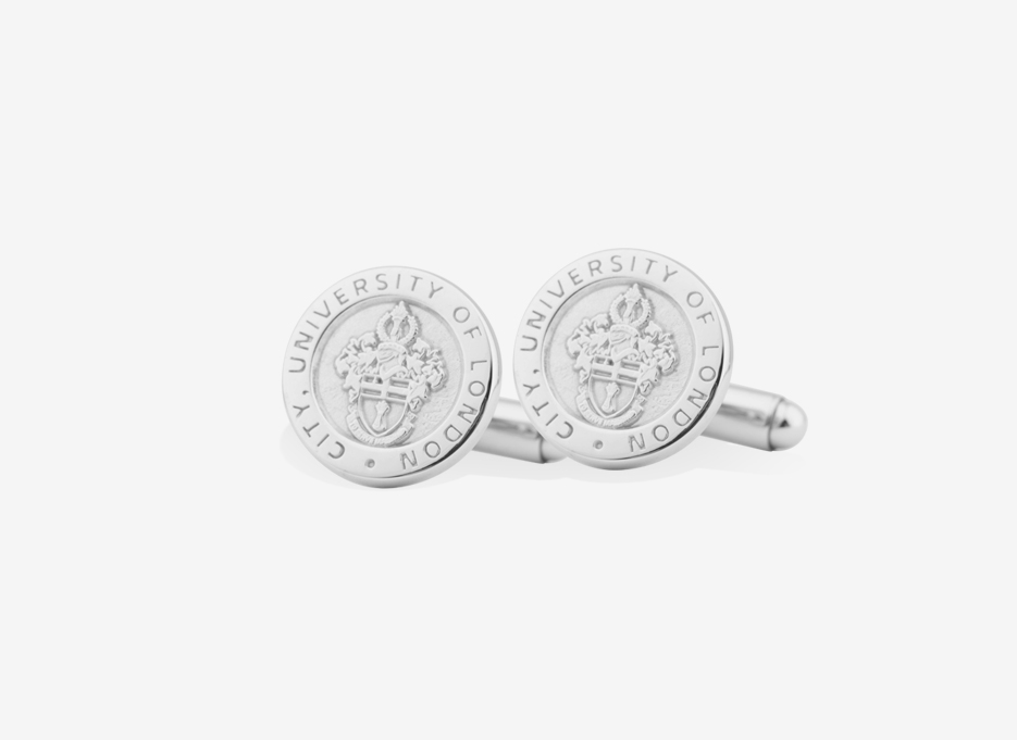 Caro Shield Cufflinks | Sterling Silver