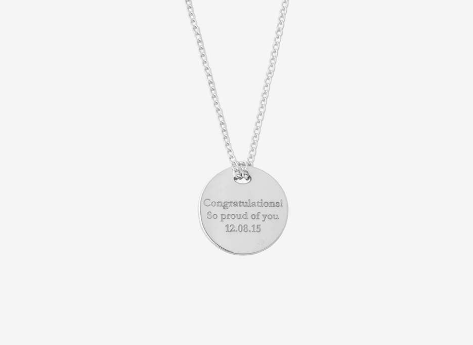 Classic Disc Necklace - Sterling Silver