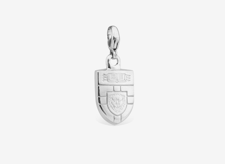 Ava Charm | Shield in Sterling Silver