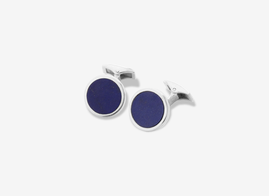 Lapis Carey Cufflinks, Sterling Silver