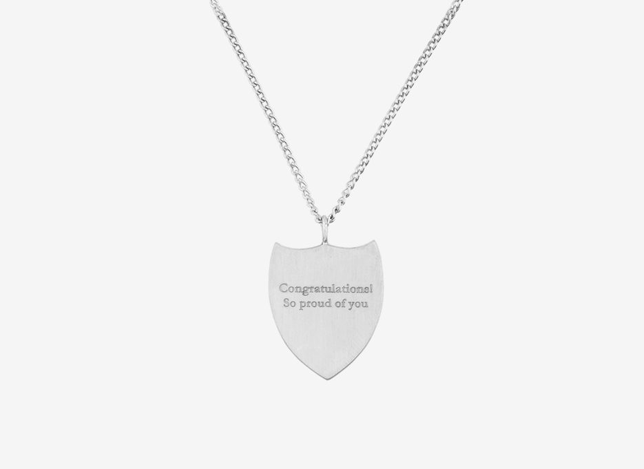 Classic Shield Necklace - Sterling Silver