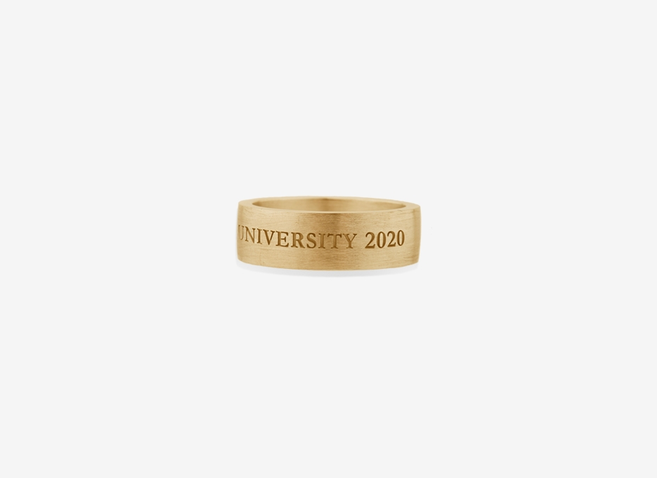 Oversized Band 7mm, Gold