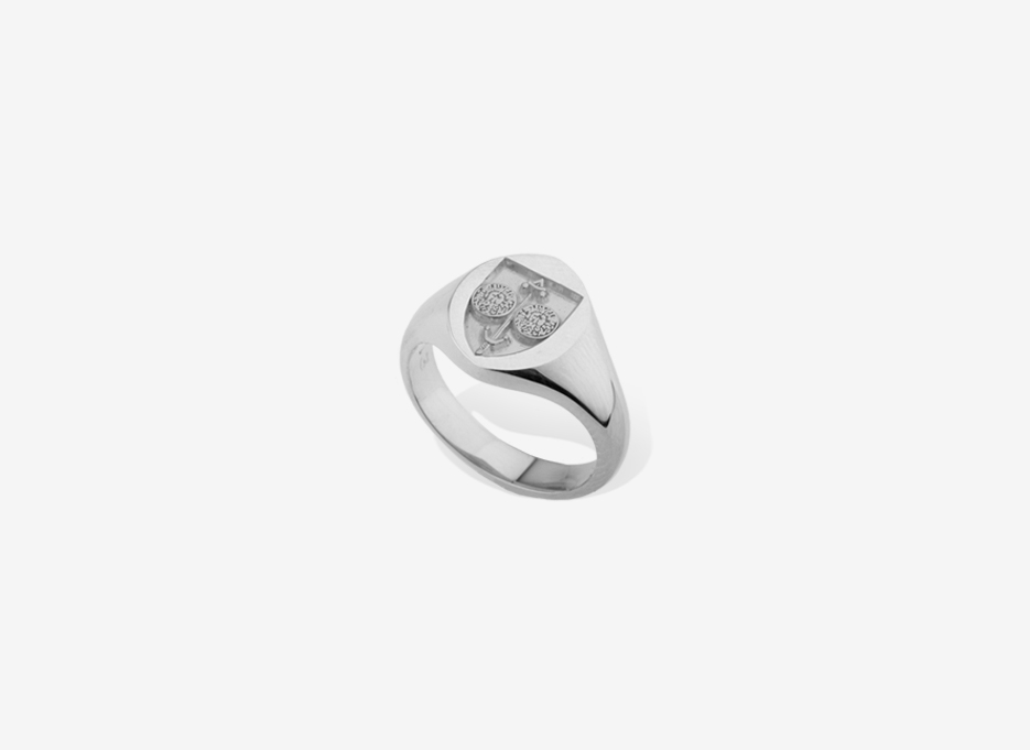 Small Sebald Seal in Sterling Silver, 11.5mm