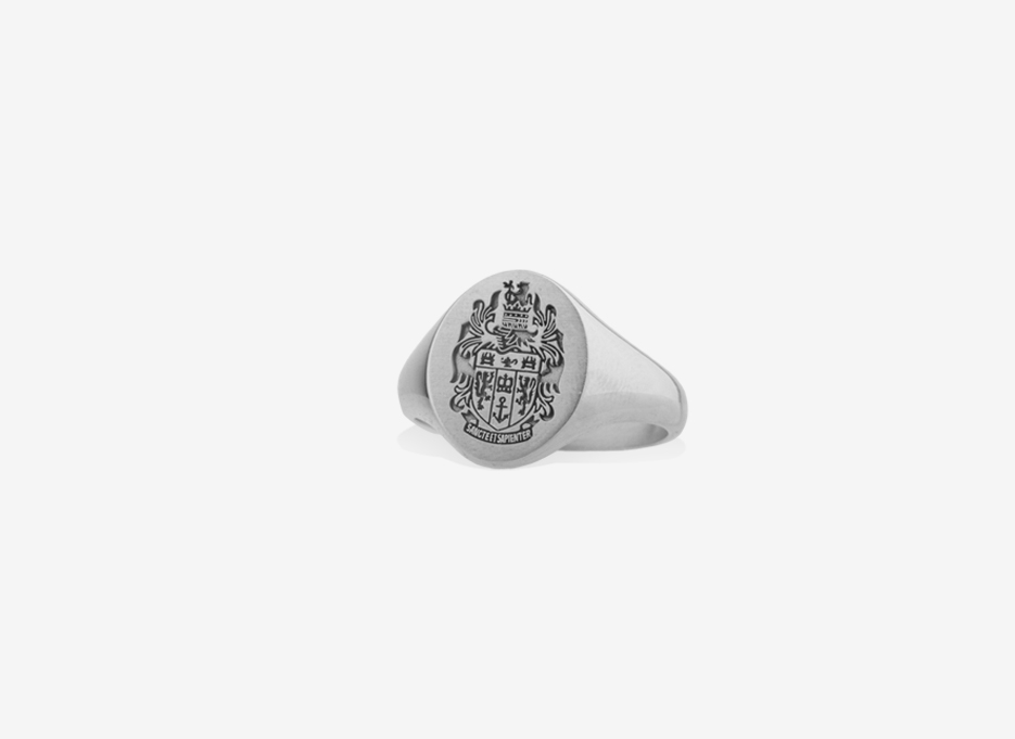 Classic Sebald Seal in Sterling Silver, 14.5mm