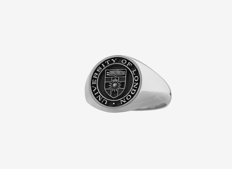 University of London Medium Signet in Sterling Silver, 15mm