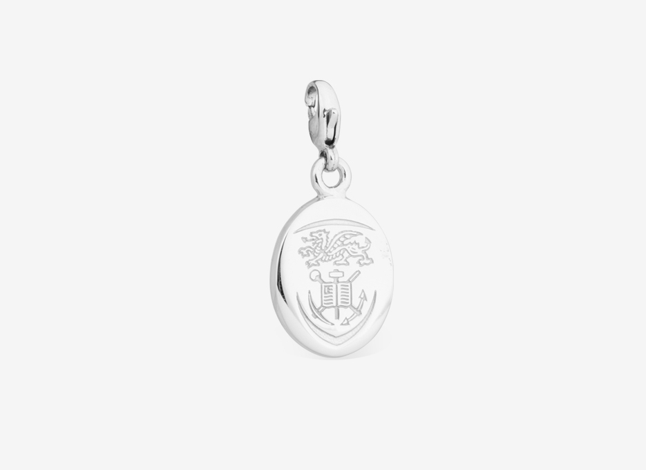 Ava Charm   Shield in Sterling Silver